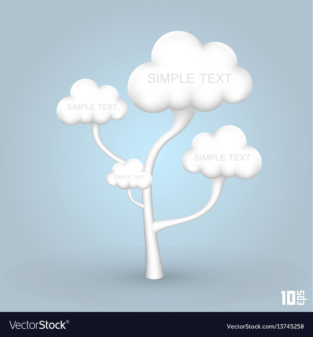 Tree out of the clouds vector image