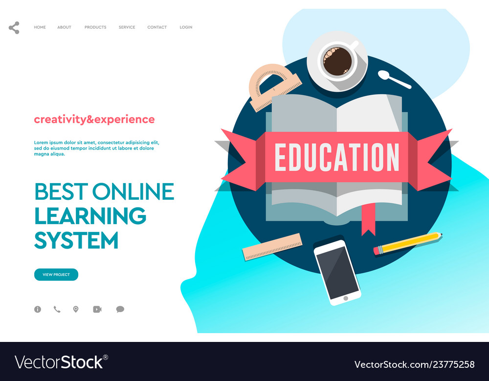 Web page design template for e-learning online