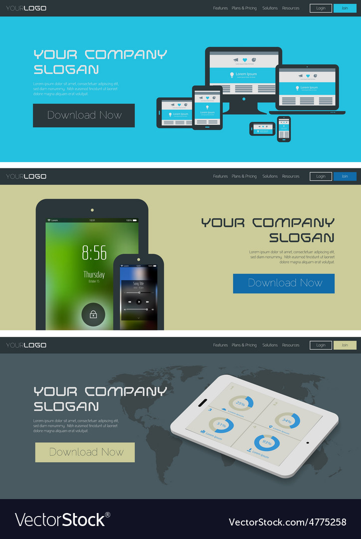 website header or banner template royalty free vector image