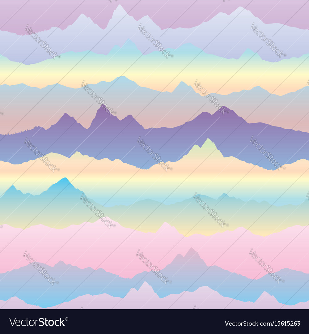 Abstract wavy mountain skyline background