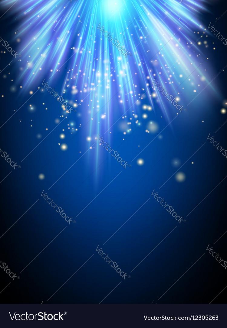 Blue holiday burst EPS 10 vector image
