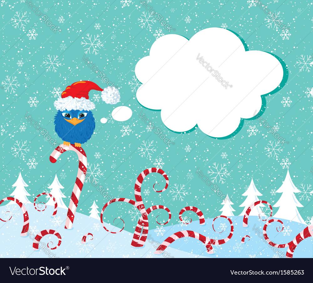 Christmass candy bird