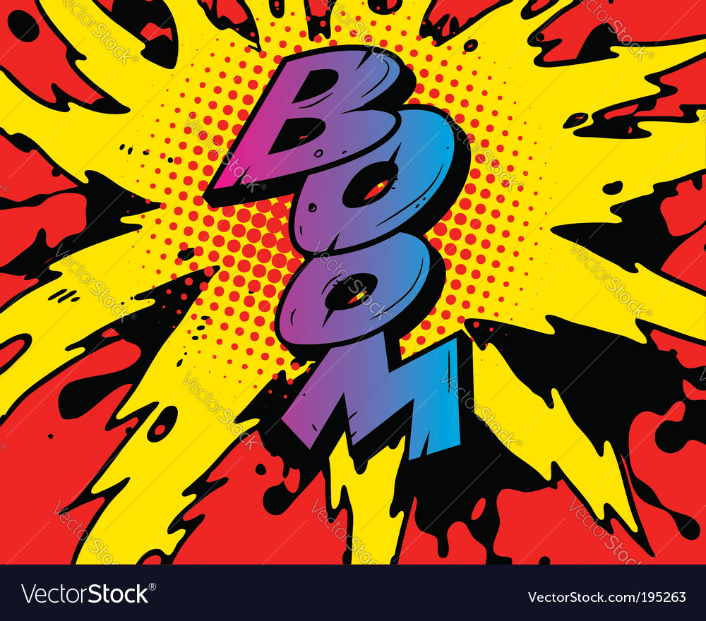 comic boom royalty free vector image vectorstock