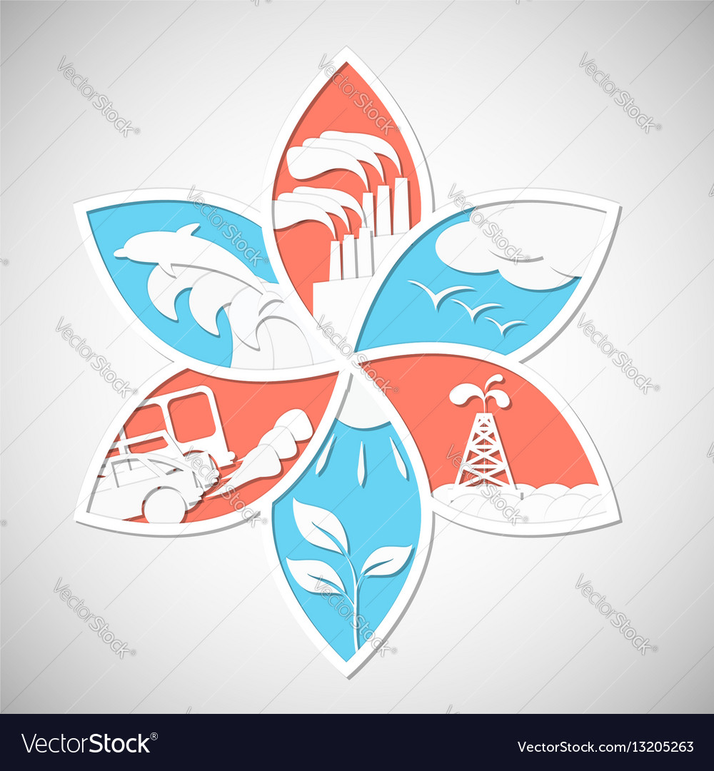 Eco concept save the world vector image