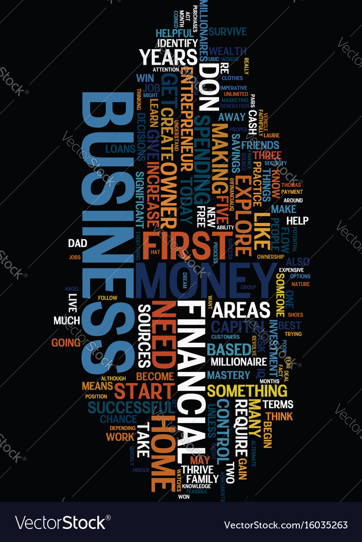 Money sense for the home based business owner vector image