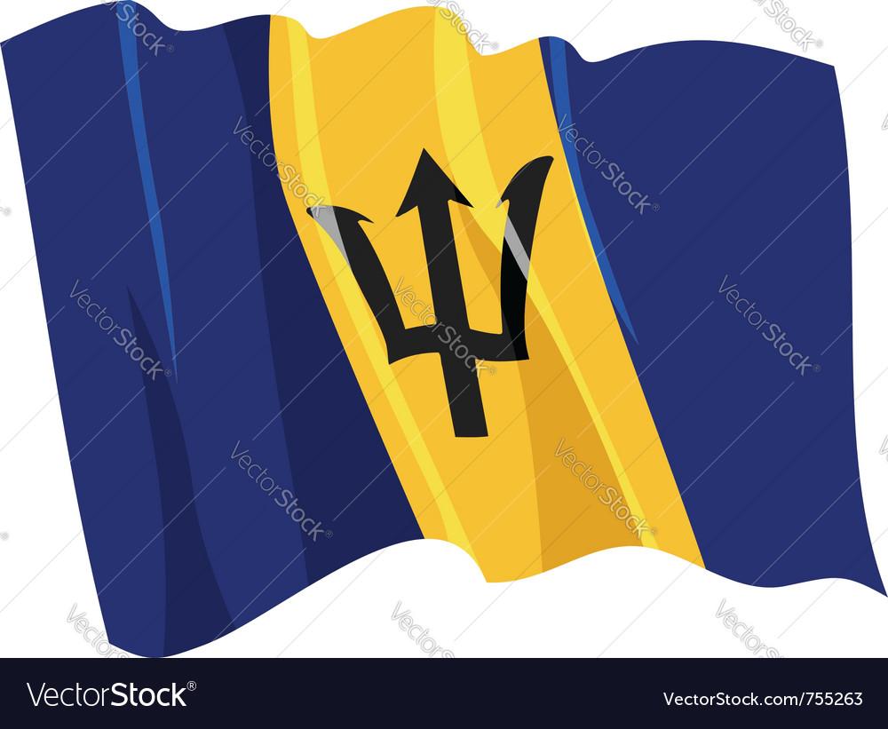 Political waving flag of barbados vector image