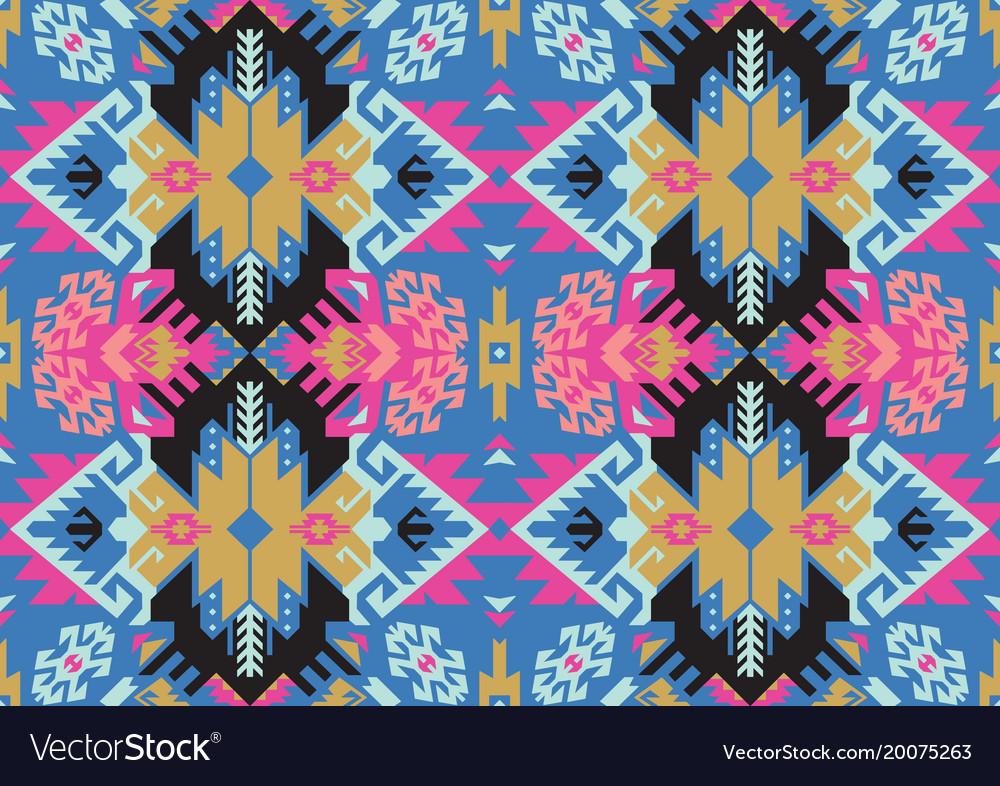 Tribal turkish seamless pattern in bohemian style