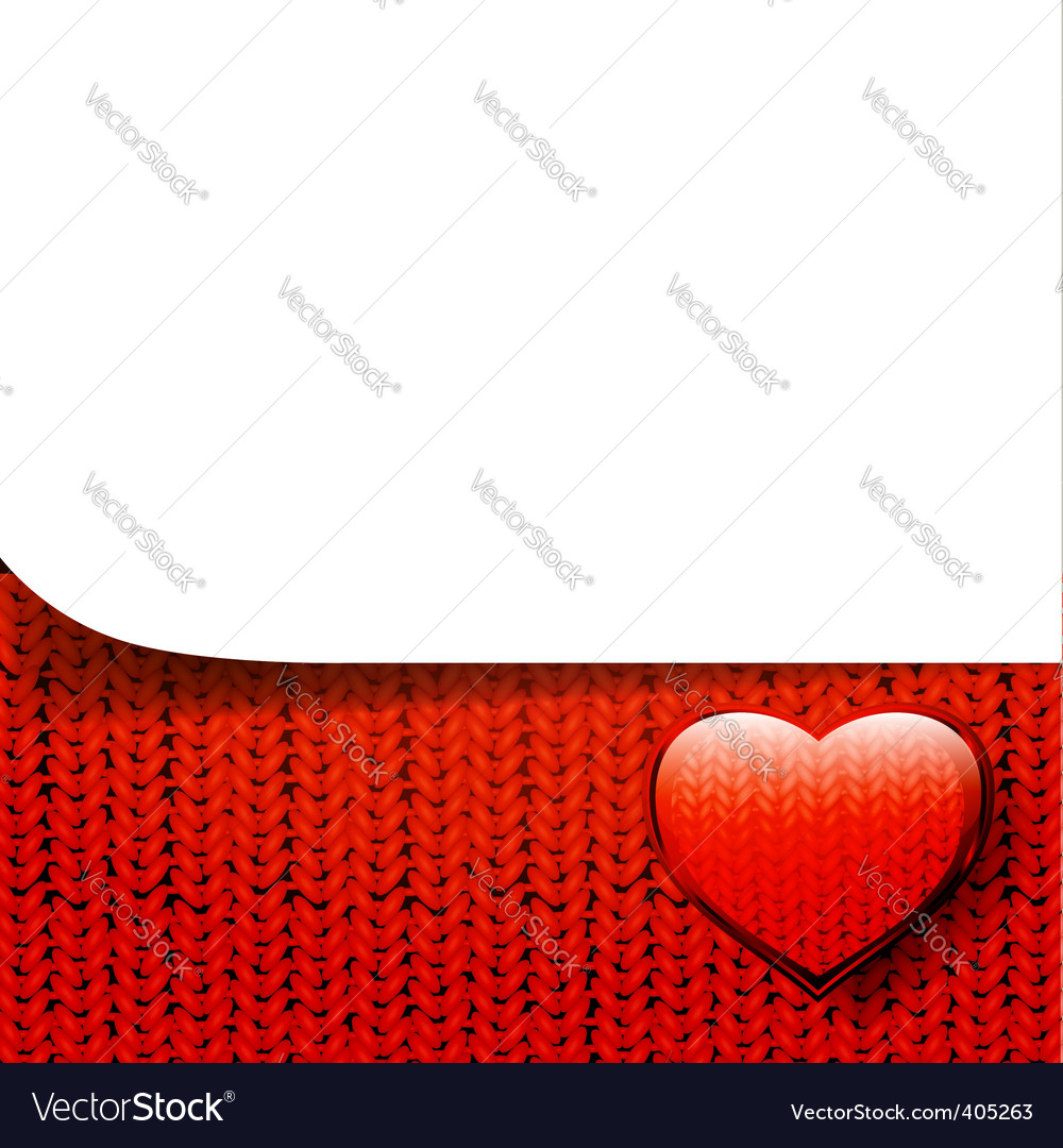 Valentine template vector image