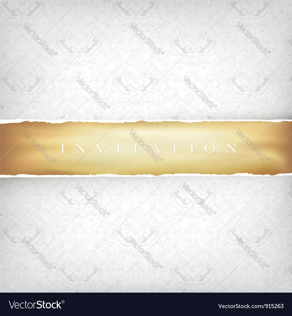 Vintage background with golden ribbon