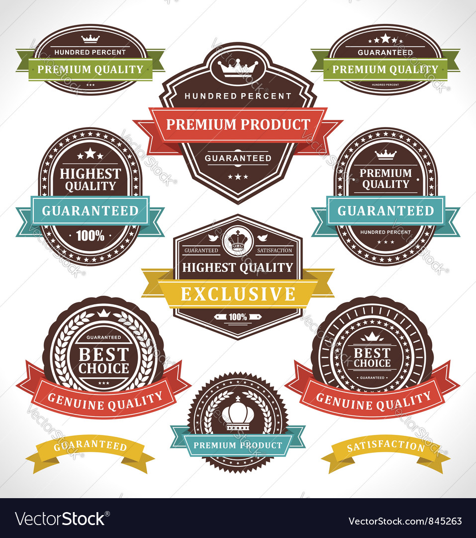 vintage stickers and labels royalty free vector image rh vectorstock com vector labels free vector label shape