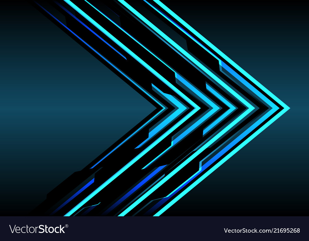 Abstract blue arrow light technology direction