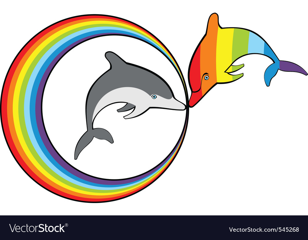 are dolphins a gay symbol. Description: Rainbow dolphin and gray dolphins in ...