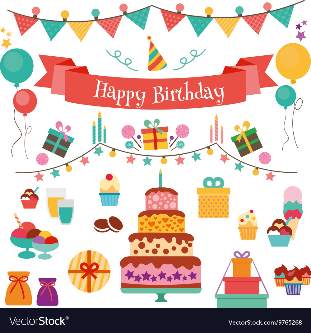 happy birthday icons Happy Birthday Flat Design Icons Set Royalty Free Vector happy birthday icons