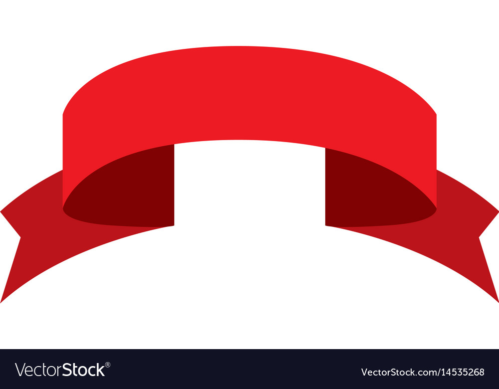 Red ribbon decoration ornament celebration image vector image