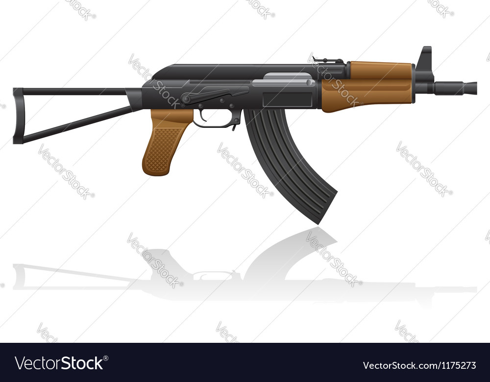 Automatic machine AK 47 02 vector image