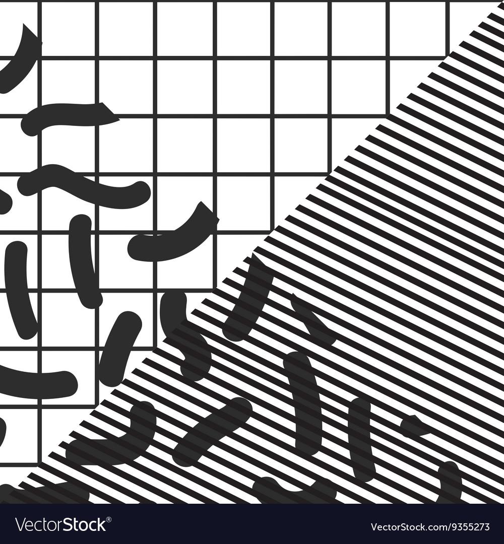 45d9e4311b5 Black and white stripe checkered geometric vintage vector image