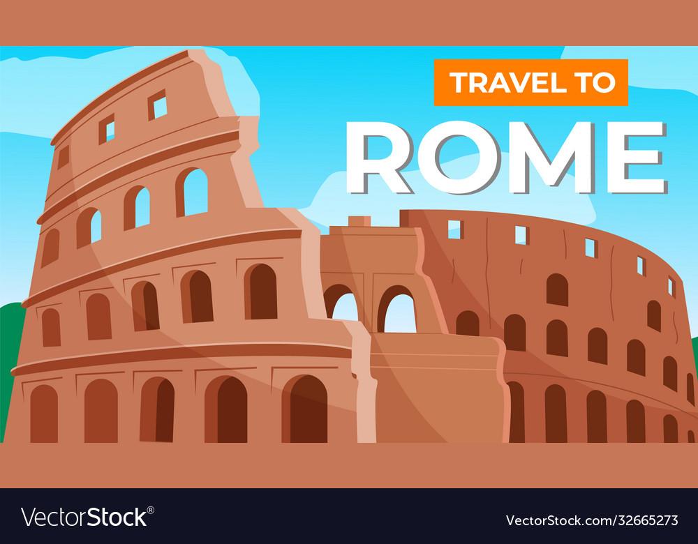 Coliseum in rome travel to italy italian