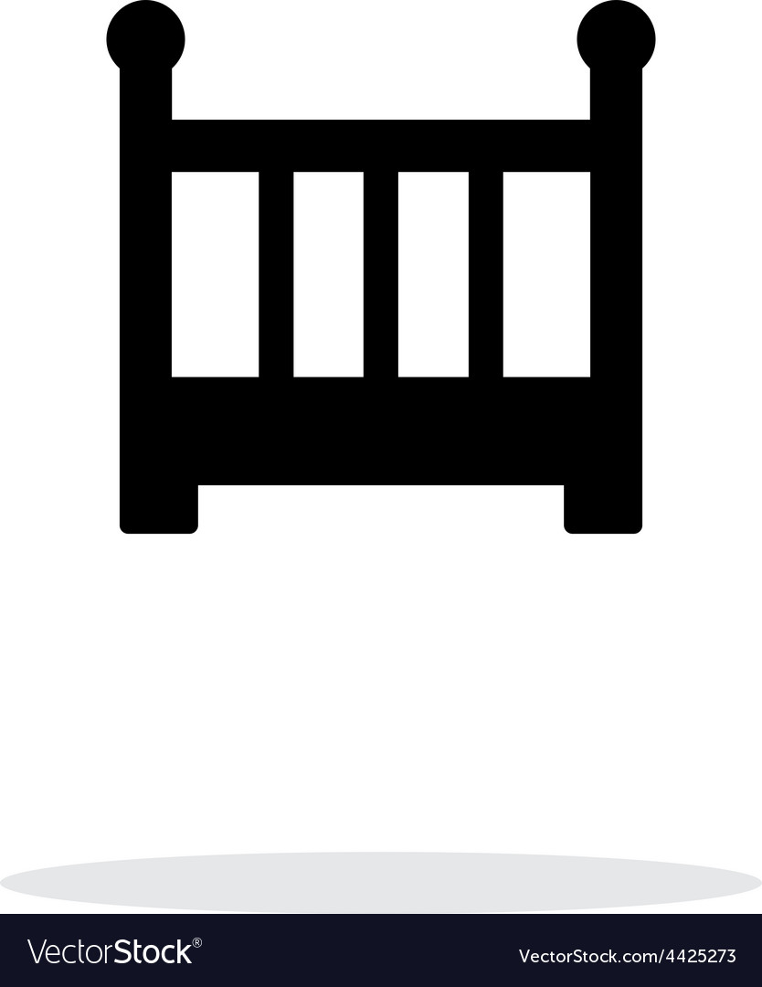 Crib simple icon on white background