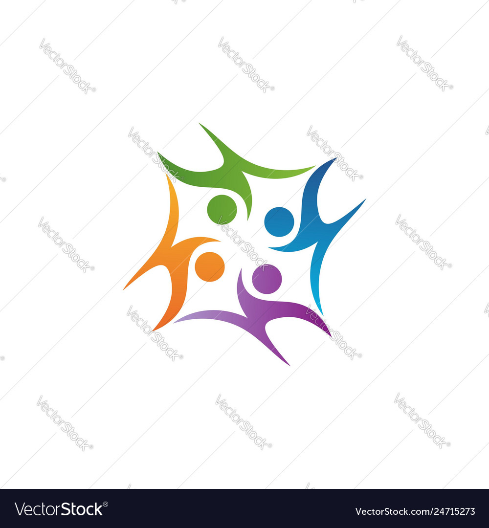 Education kids teamwork logo symbol icon design