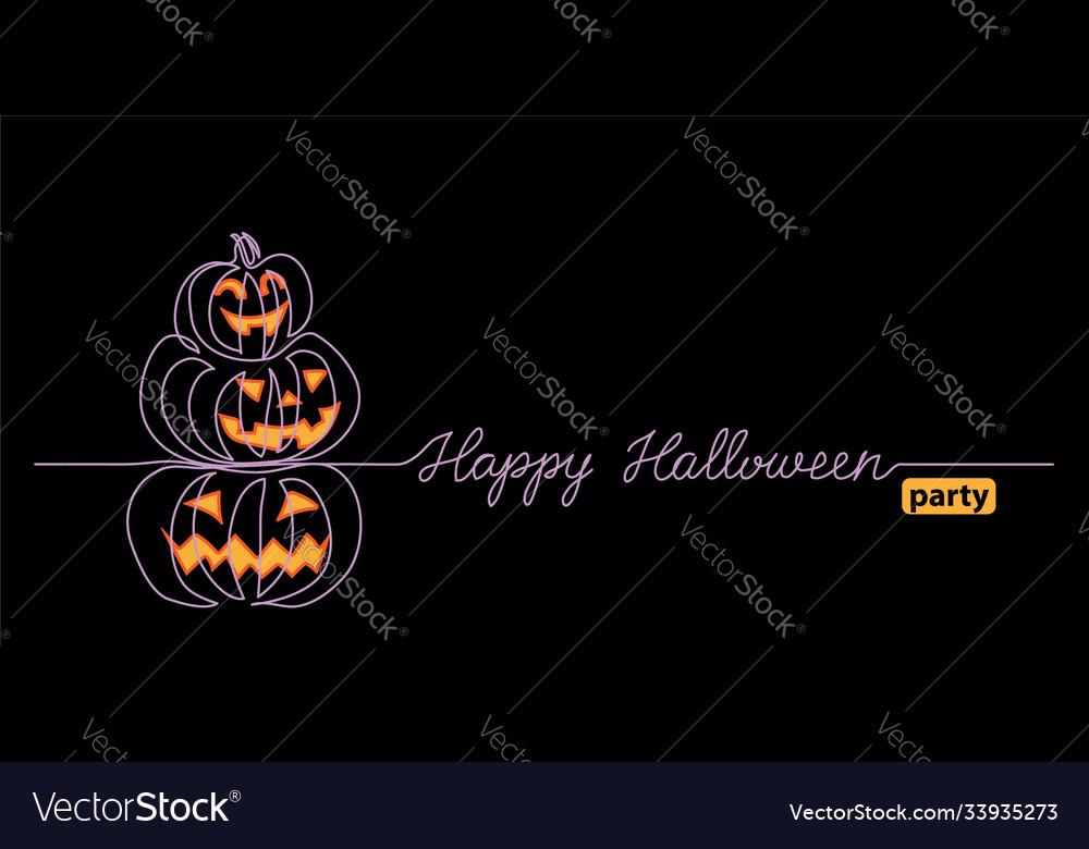Halloween black background with pumpkin stack one