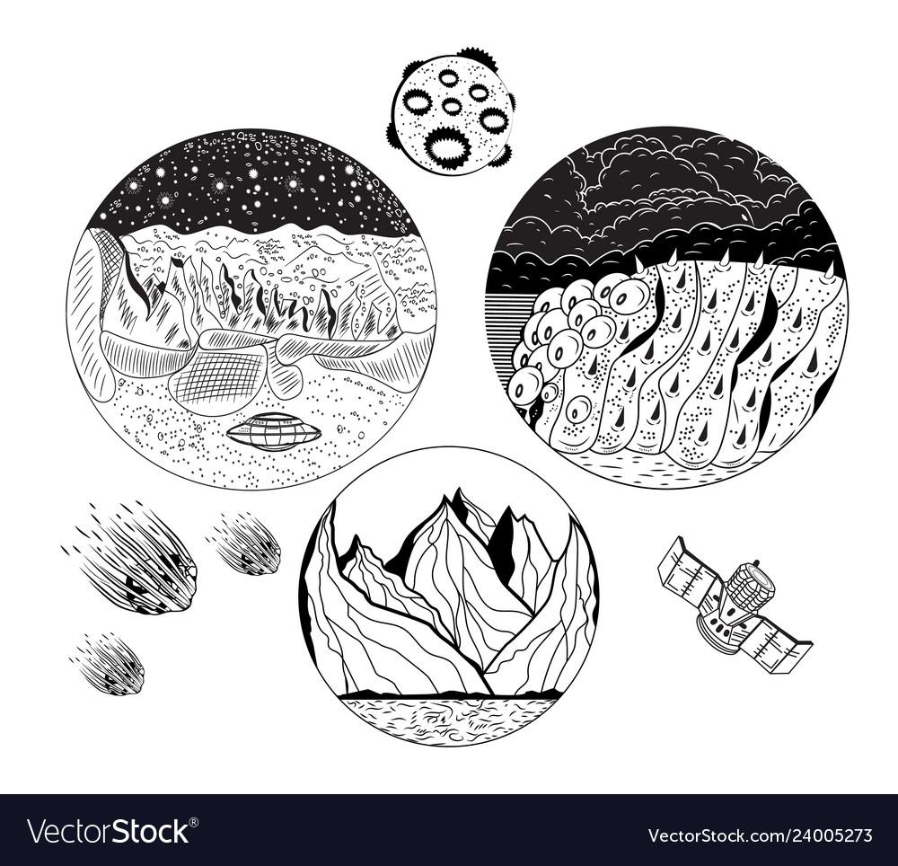 Lunar surface texture