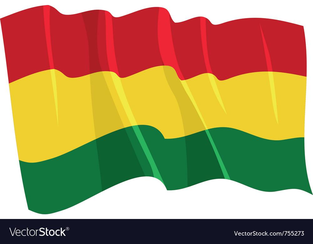 Political waving flag of bolivia