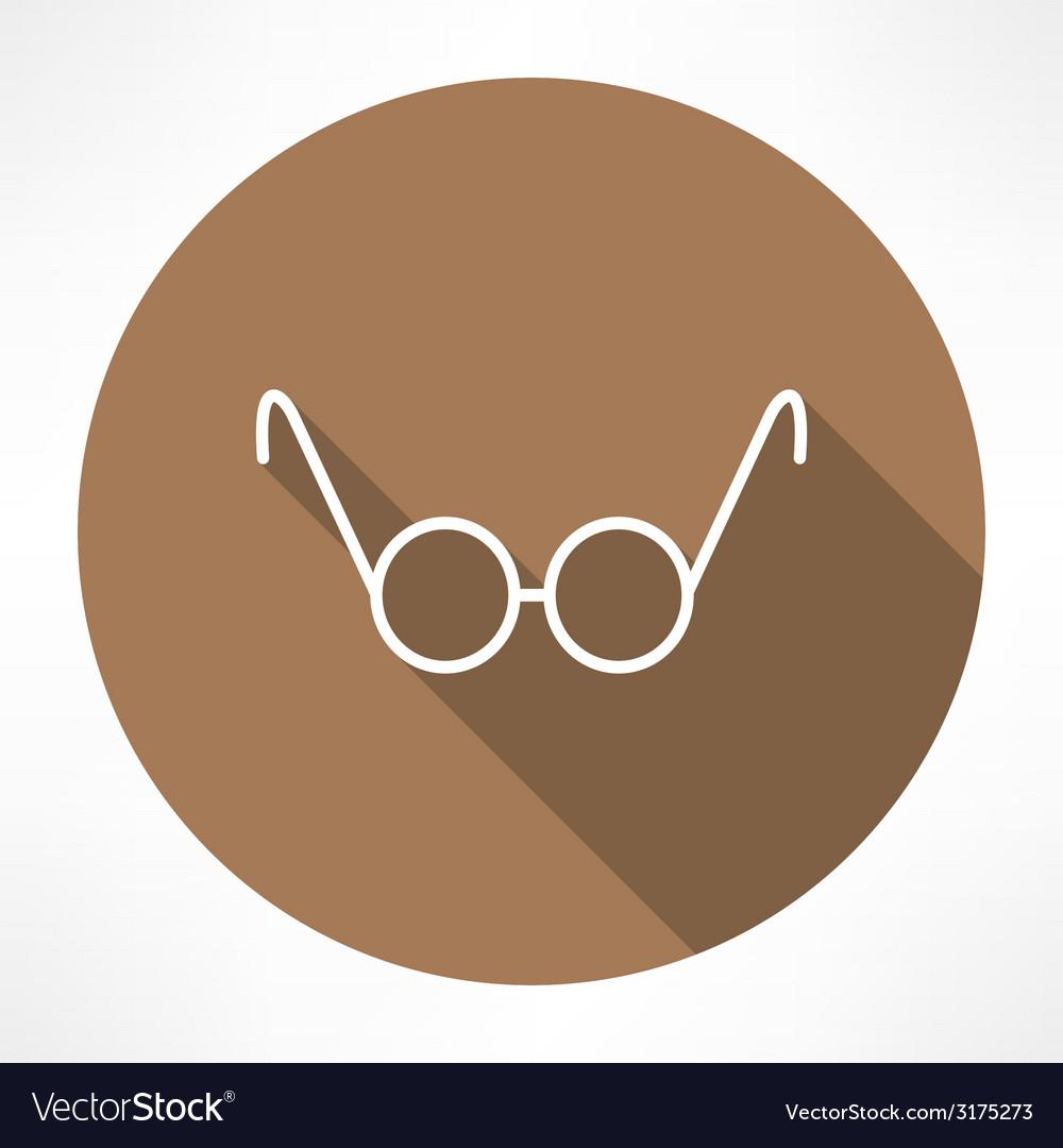Round glasses icon