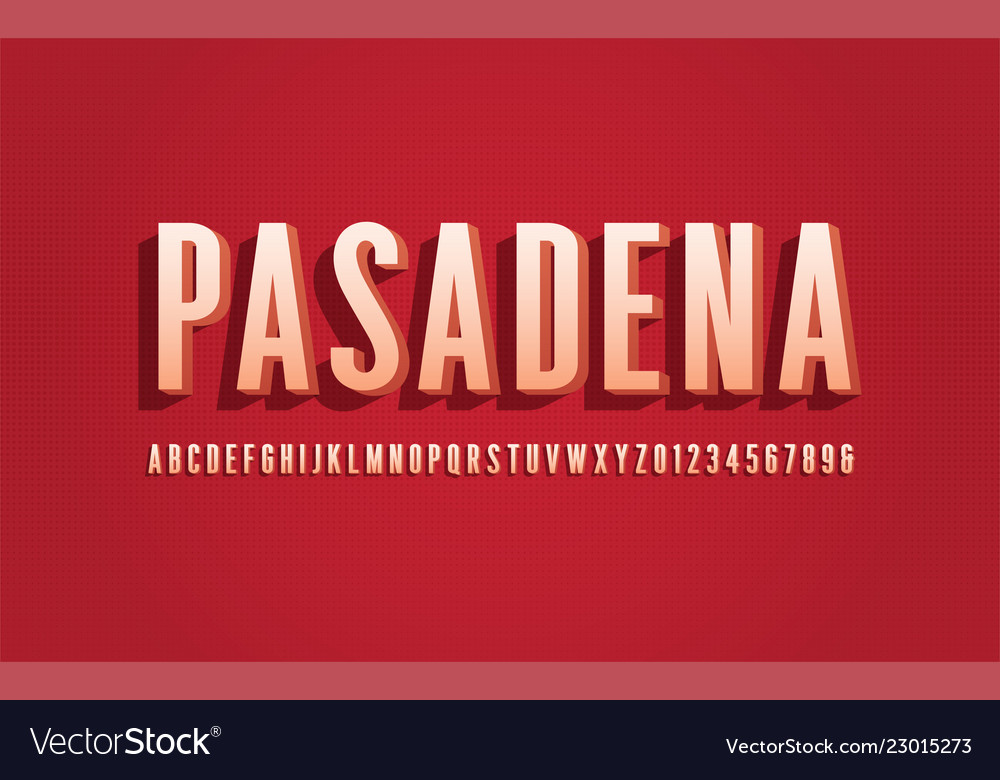 Stylized san serif condensed alphabet font