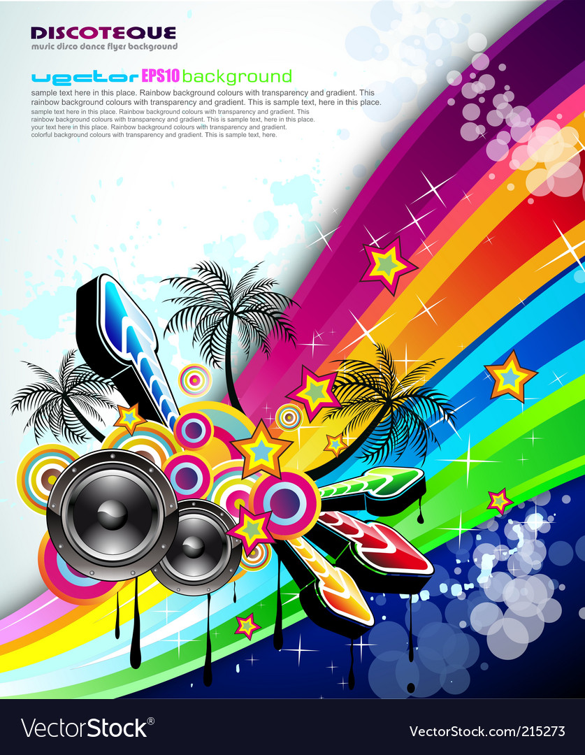 tropical music event disco flyer royalty free vector image
