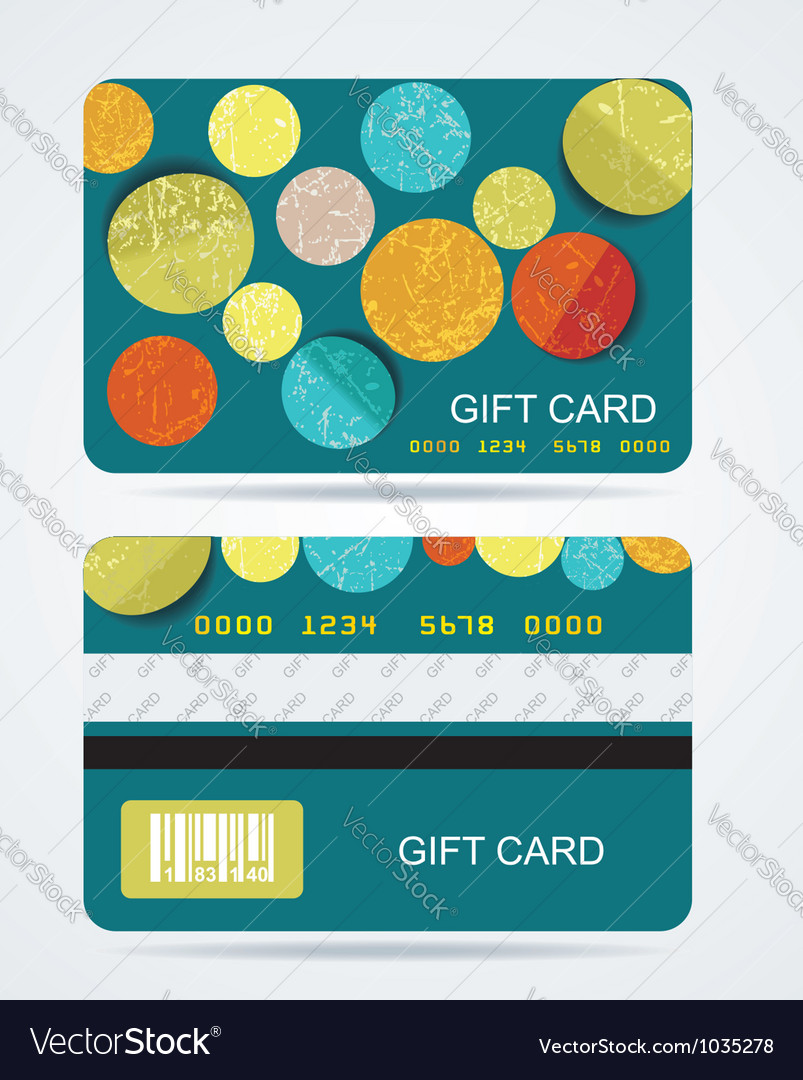 Collection of gift cards with circles background