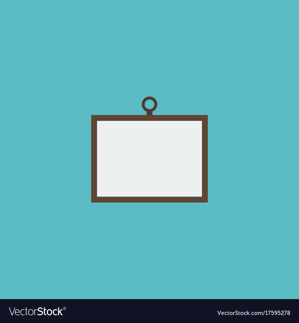 Flat icon desk element of vector image