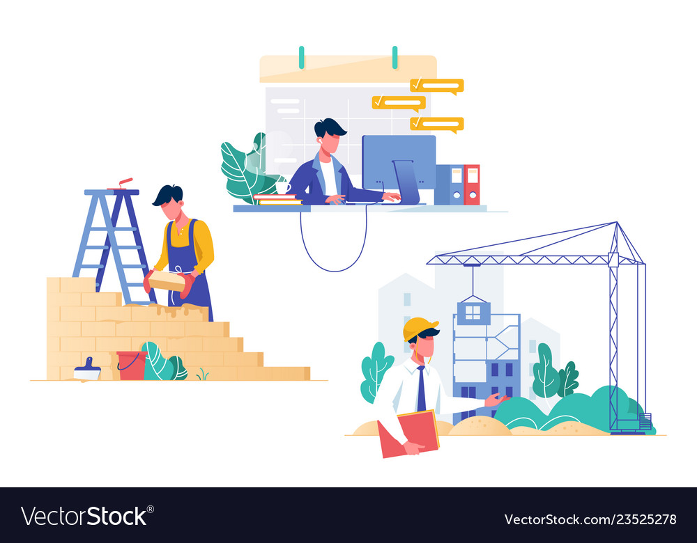 Flat set with programmer builder and architect