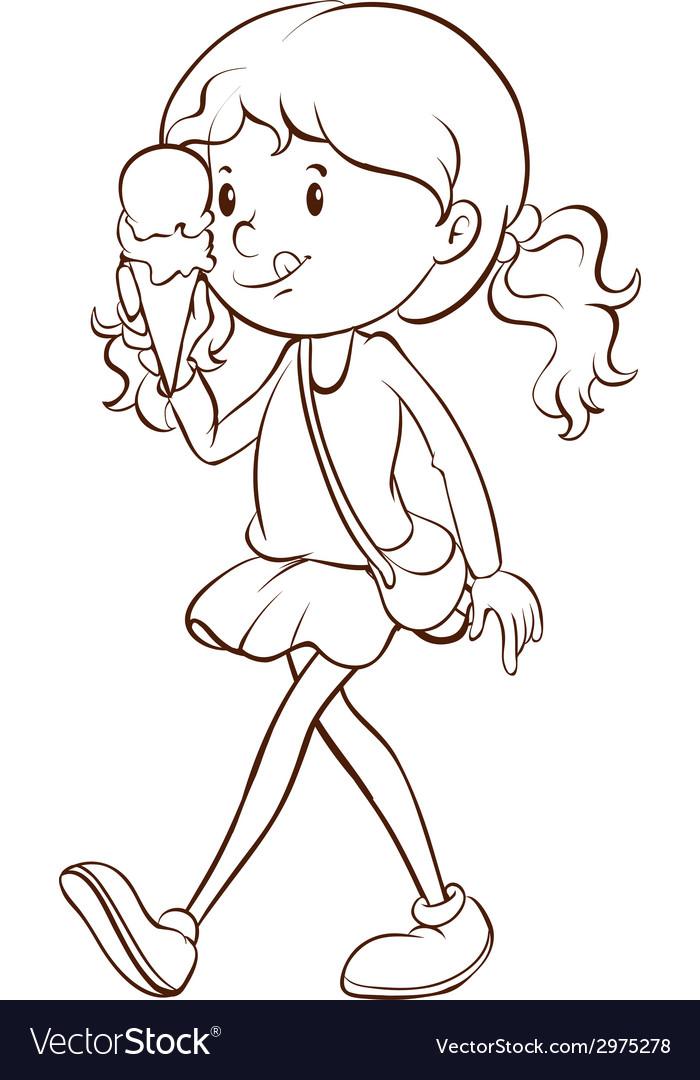 Girl and icecream