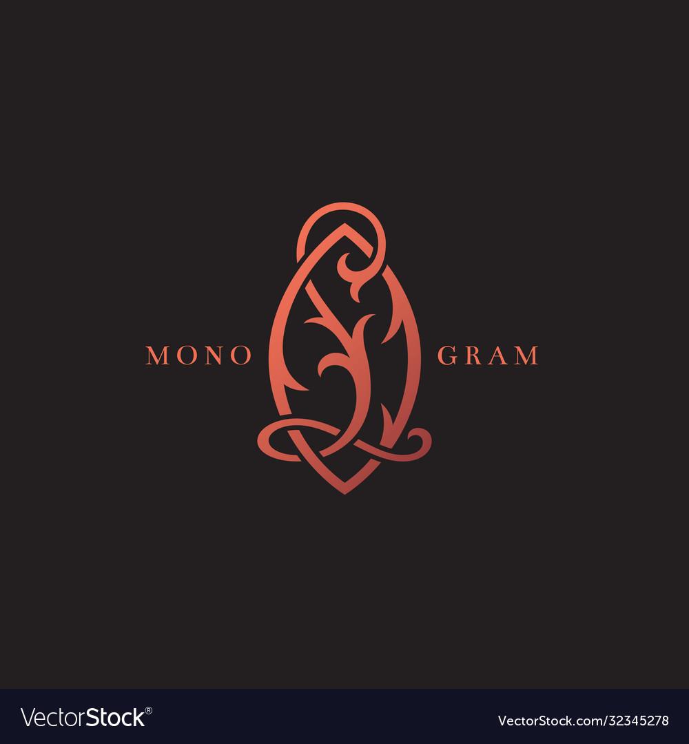 Luxury monogram lo