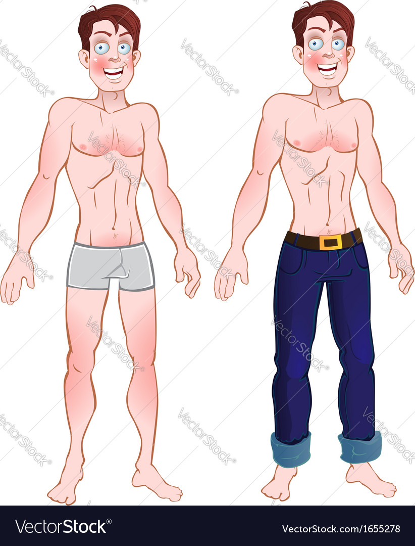 Man in jeans and nude