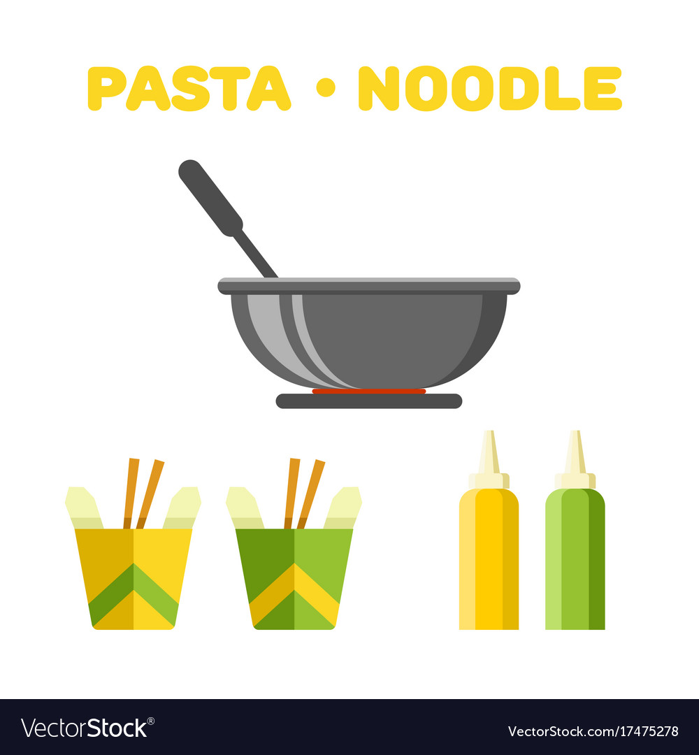 Pasta and noodle set colorful constructor