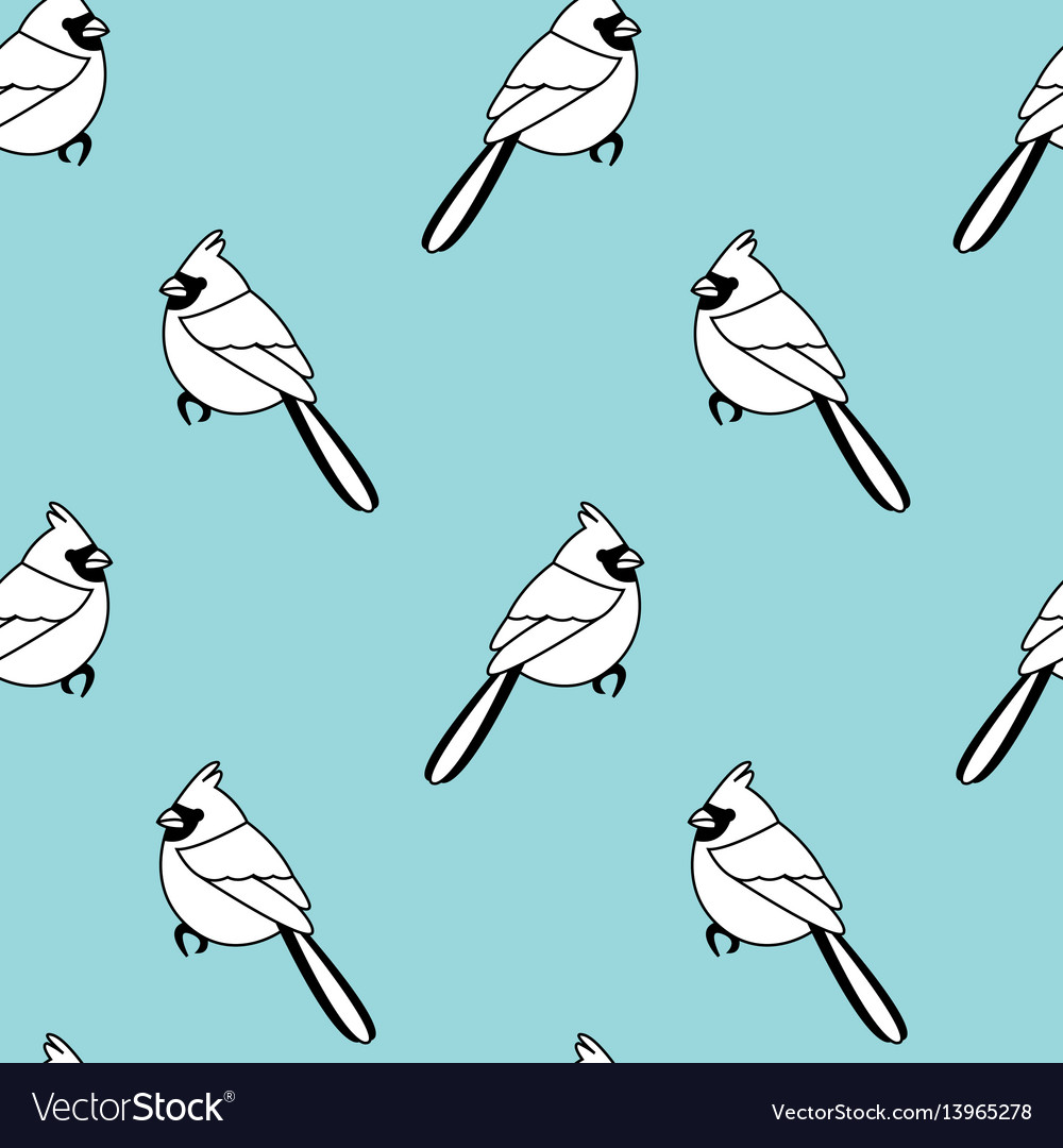 Seamless pattern with color birds