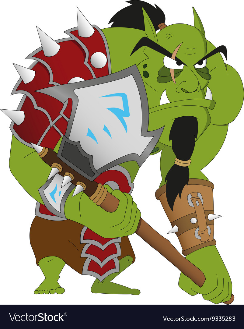 Angry orc warrior