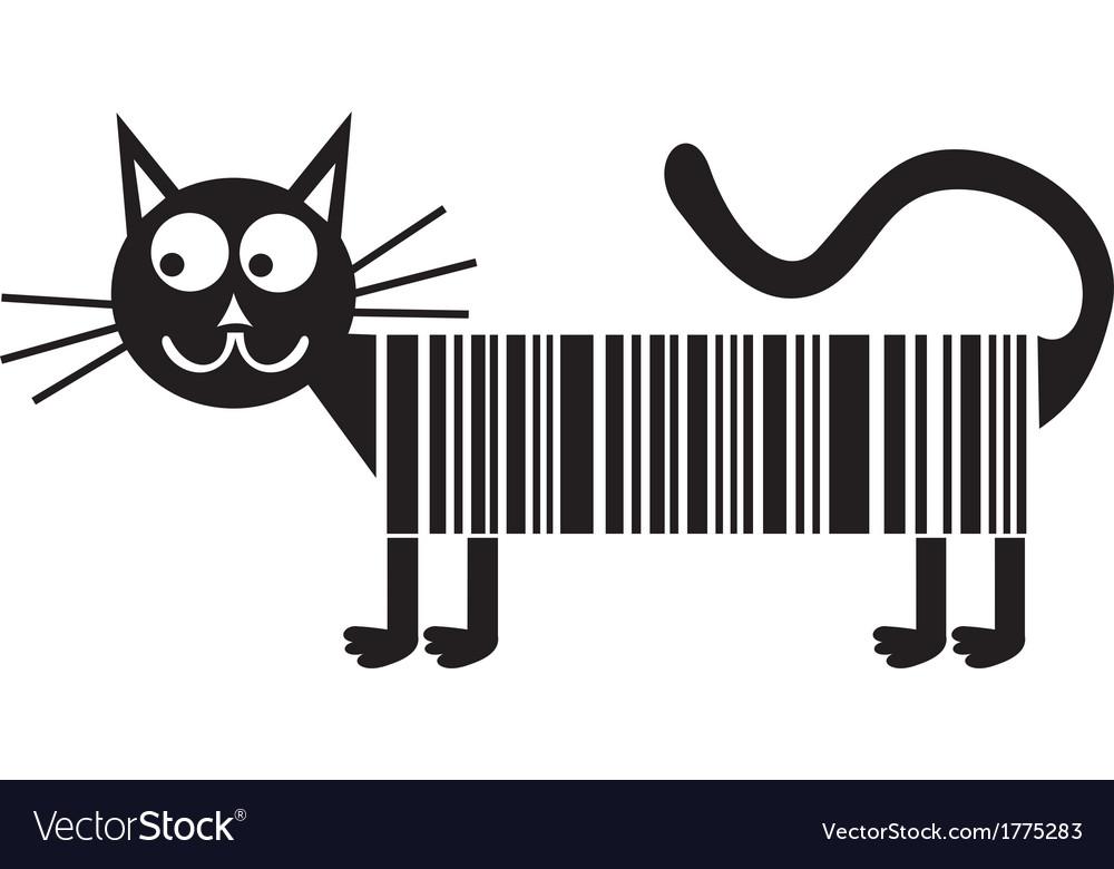 Black cat cartoon cute vector image