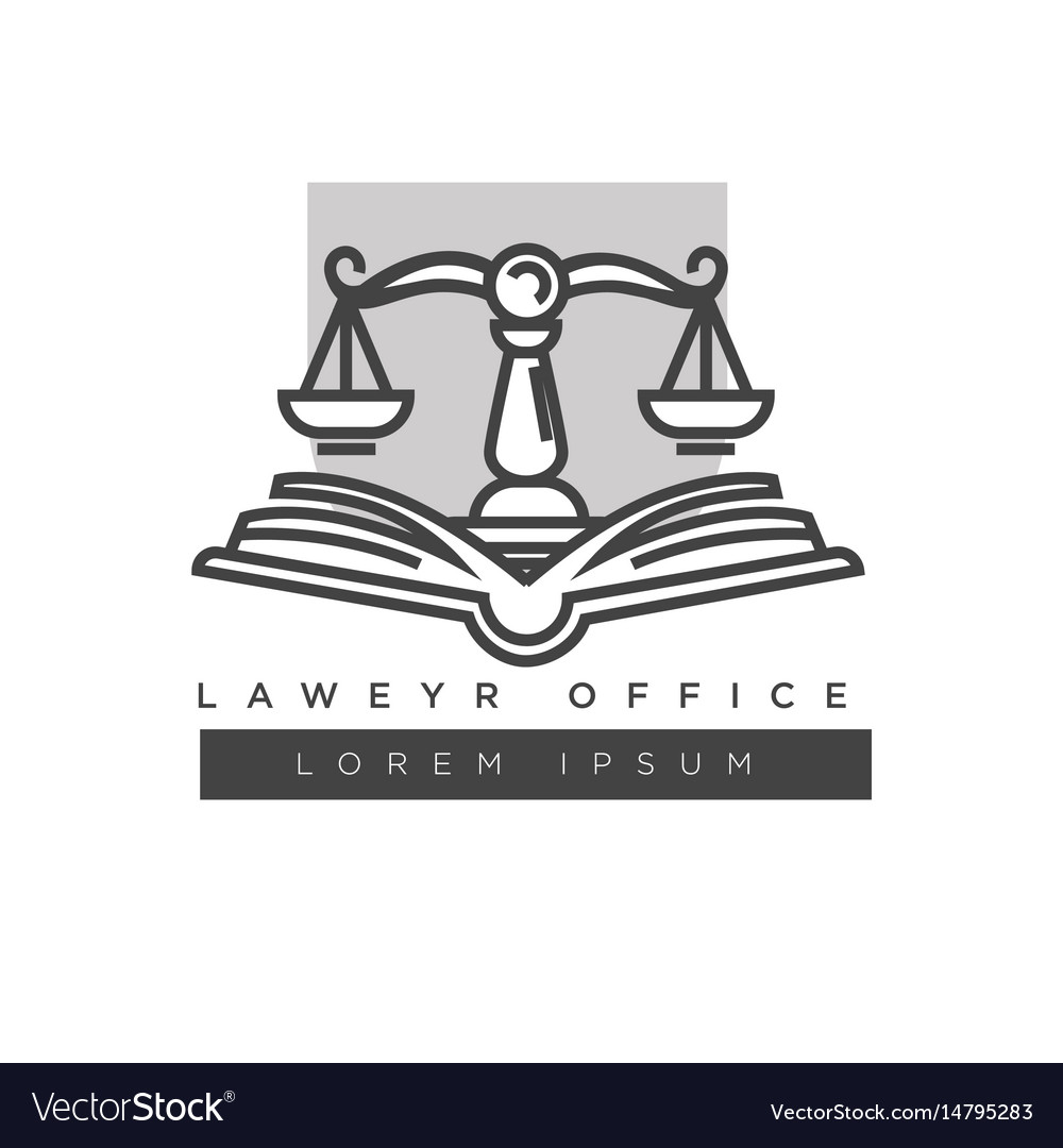 Lawyer office colorless logo label isolated on
