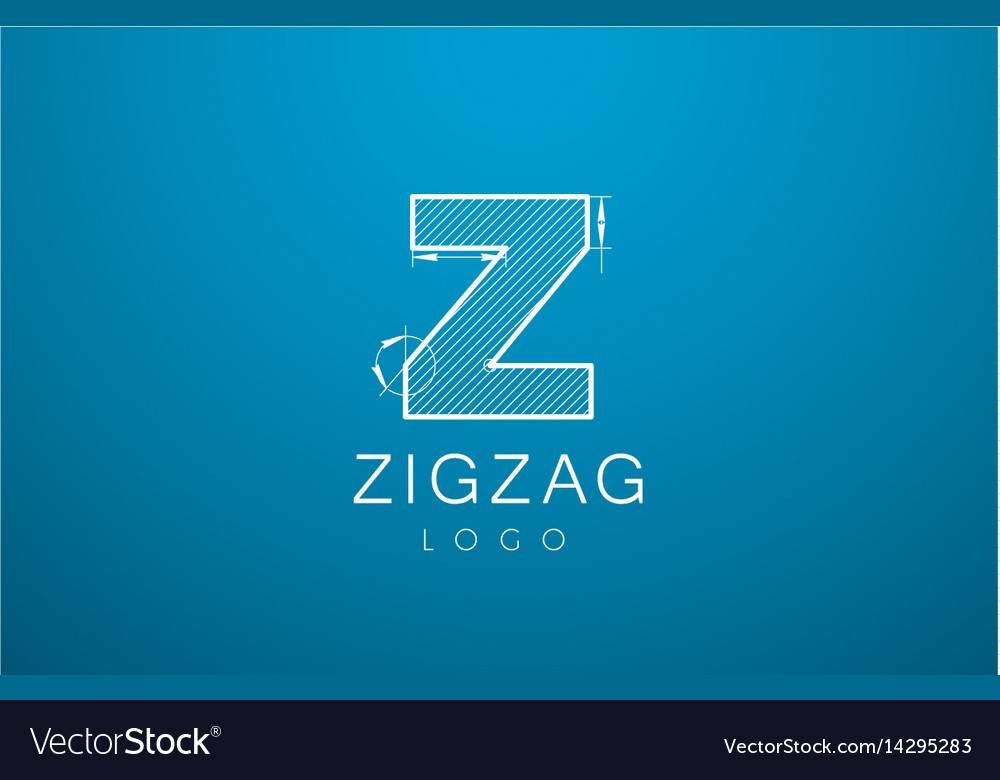 Logo template letters z zigzaz in the style of a