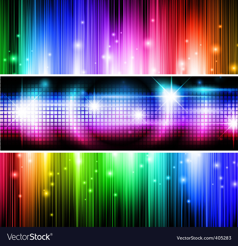 Multicolored banners