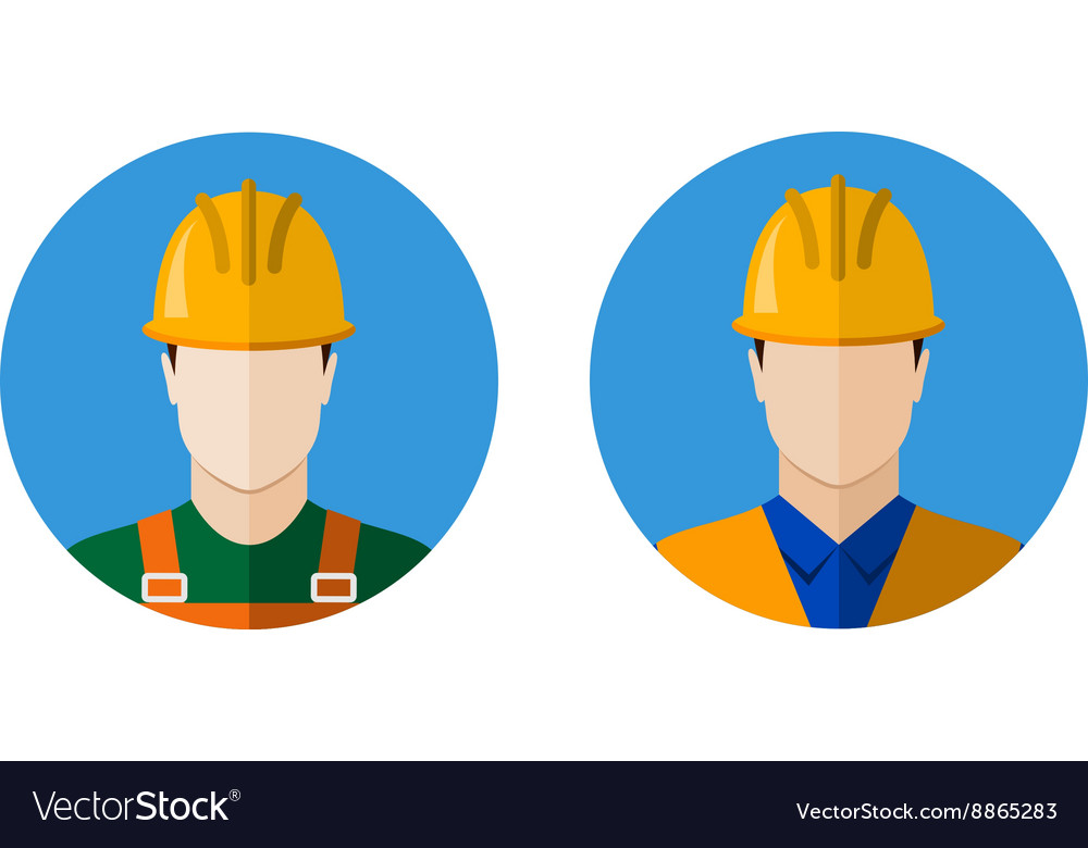 Set of builders icons