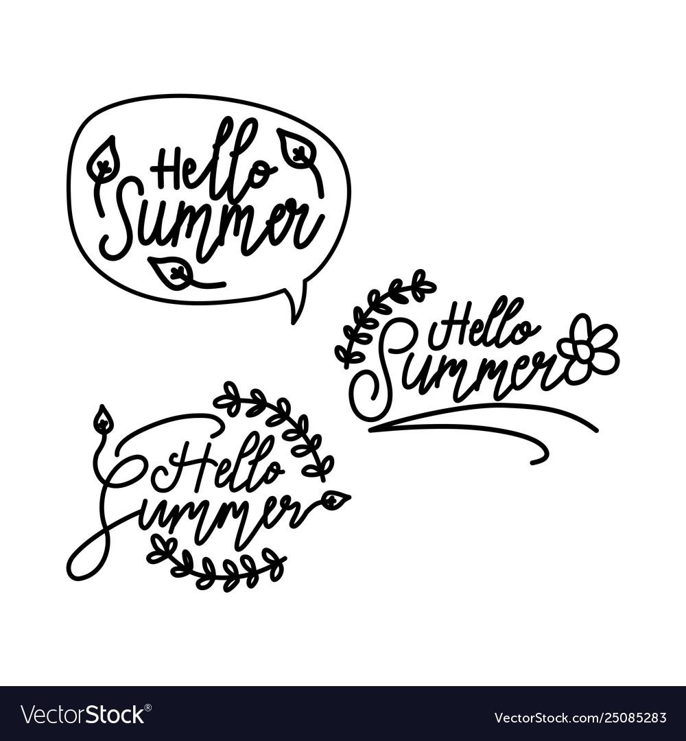 Summer script text template