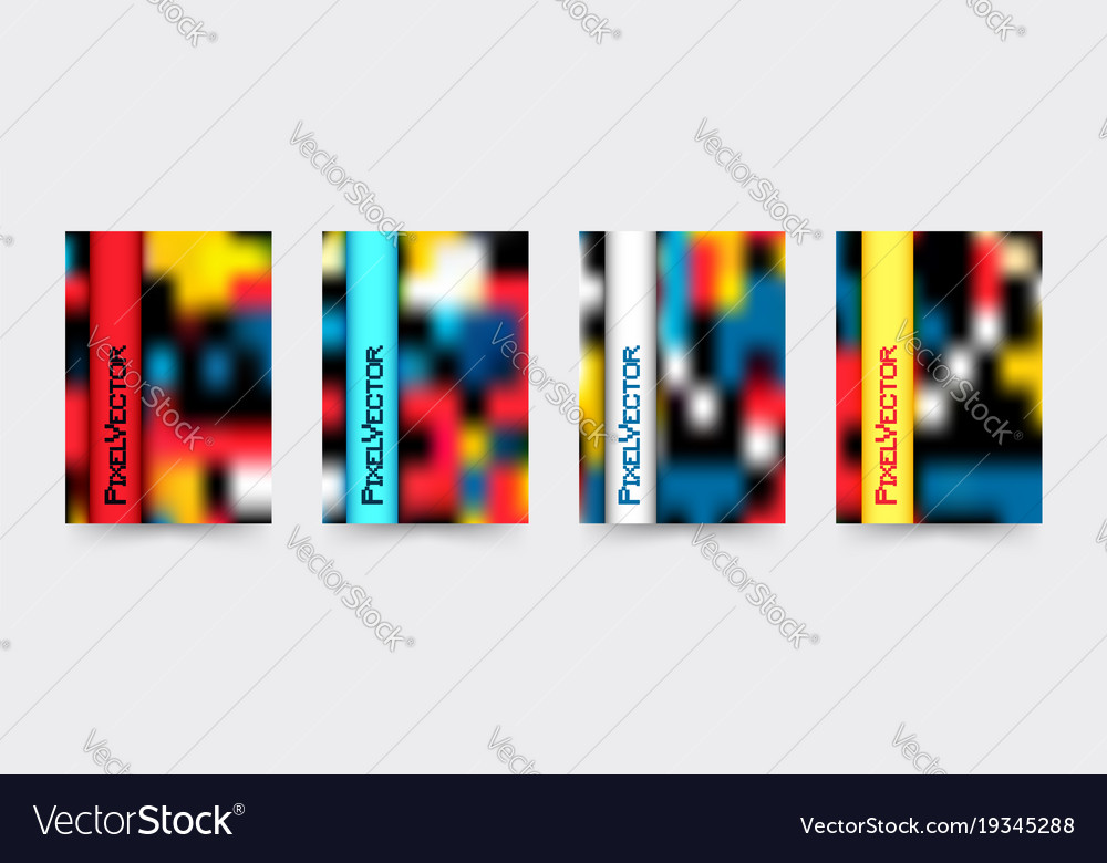 Brochure cover template set