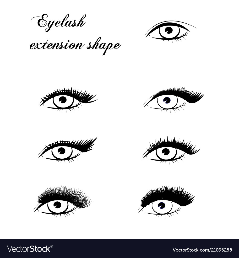 Eyelash extension shape