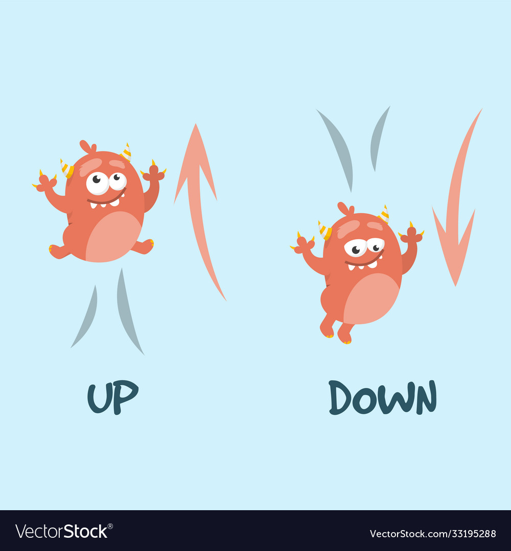 Learning preposition up and down isolated
