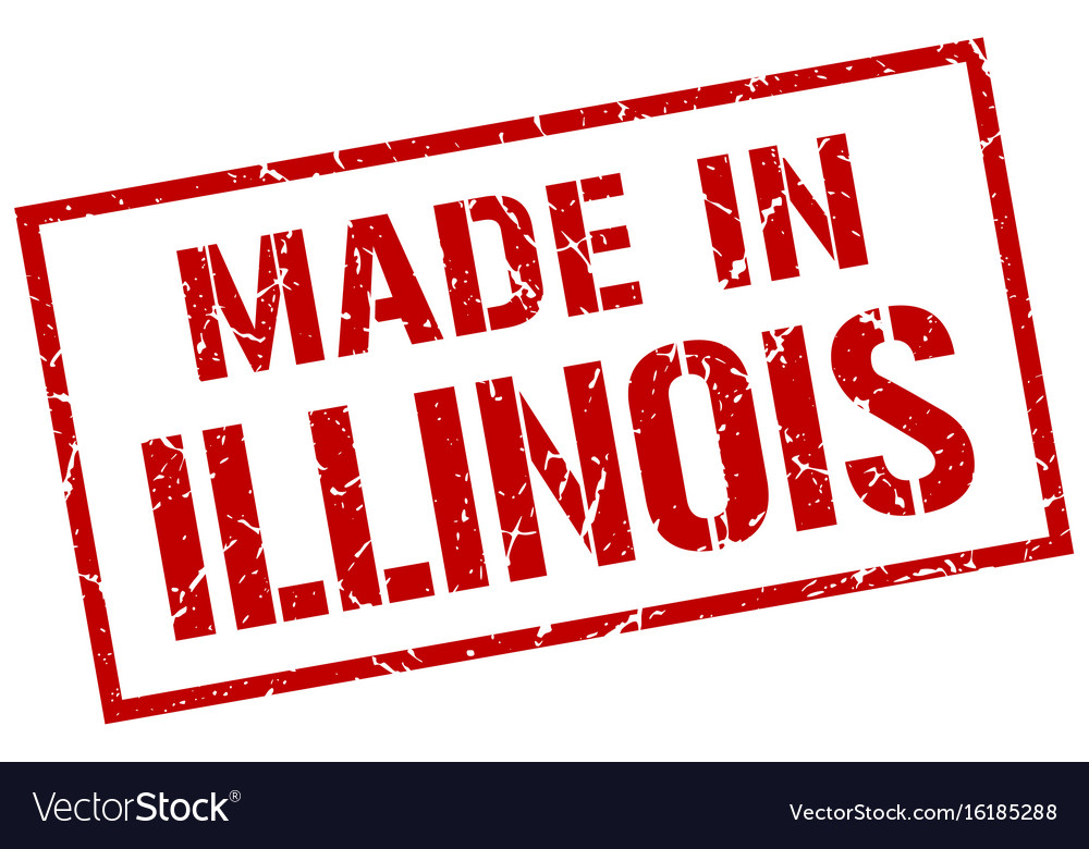Made in illinois stamp vector image on VectorStock