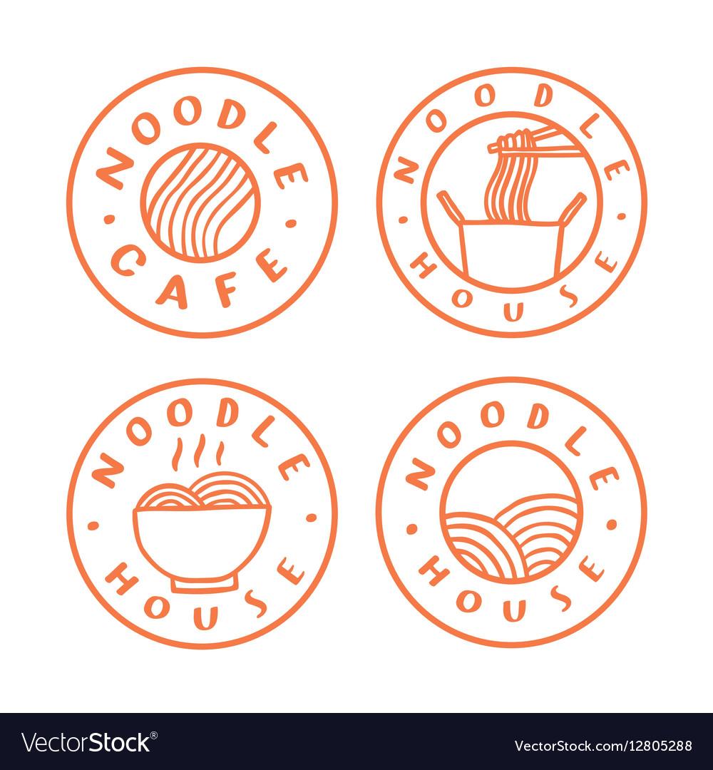 Noodle cafe logotypes