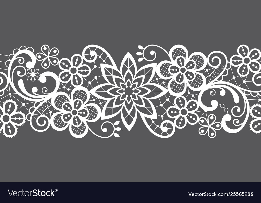 Romantic seamless lace pattern decorative